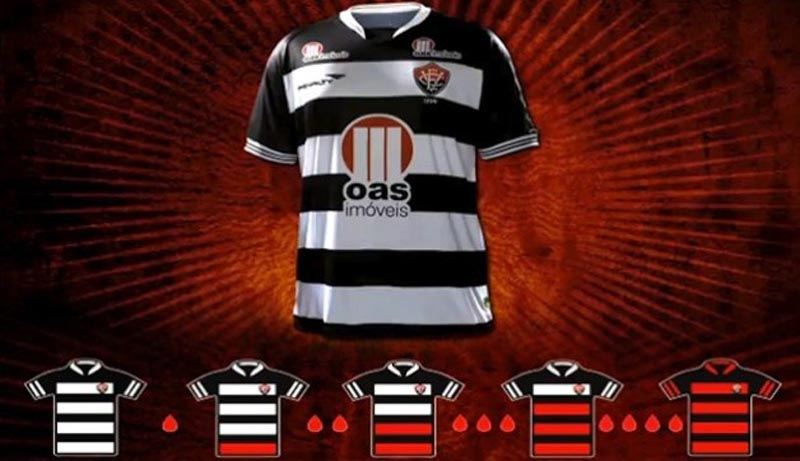 ec vitoria donate blood to restore red stripes on football club jersey 2 Football Club Removes Red from Jersey for Blood Donation Campaign