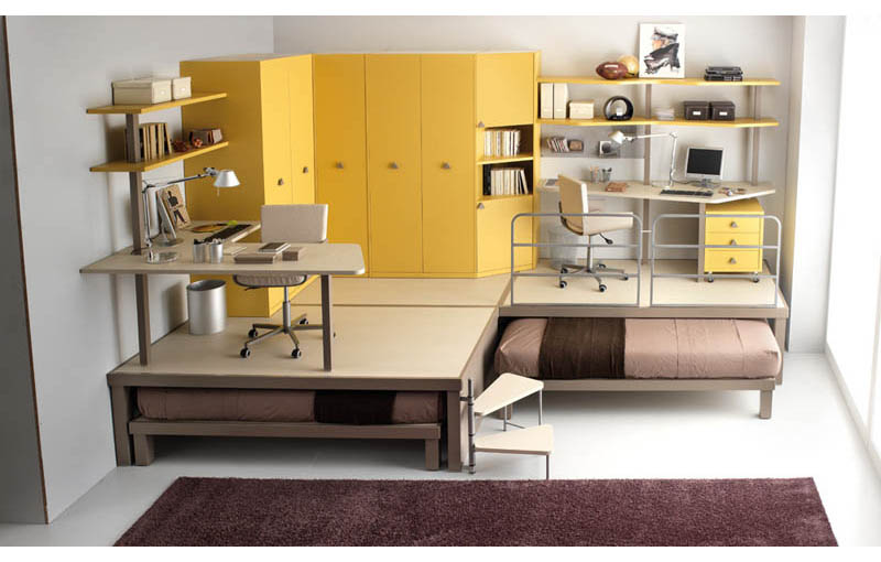 beds bed tables transforming space furniture saving resource
