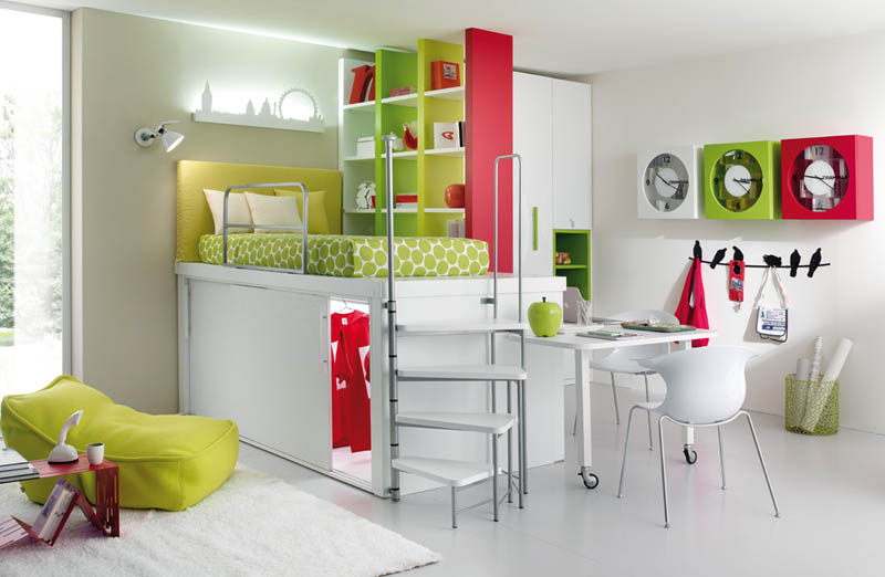 efficient space saving furniture for kids rooms tumidei spa (7)