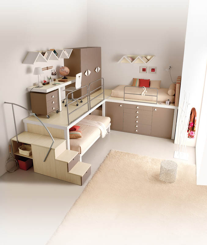 Spectacular efficient space saving furniture for kids rooms tumidei spa Space Saving Furniture Ideas for