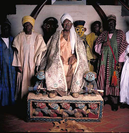 portrait of EL HADJ SEIDOU NJIMOLUH NJOYA – Sultan of Fumban and Mfon of the Bamun (Cameroon) by daniel lane