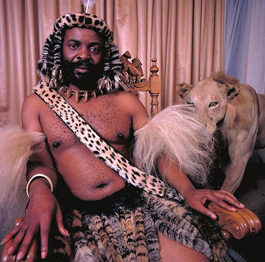 portrait of GOODWILL ZWELETHINI – King of Zulu (South Africa) by daniel lane