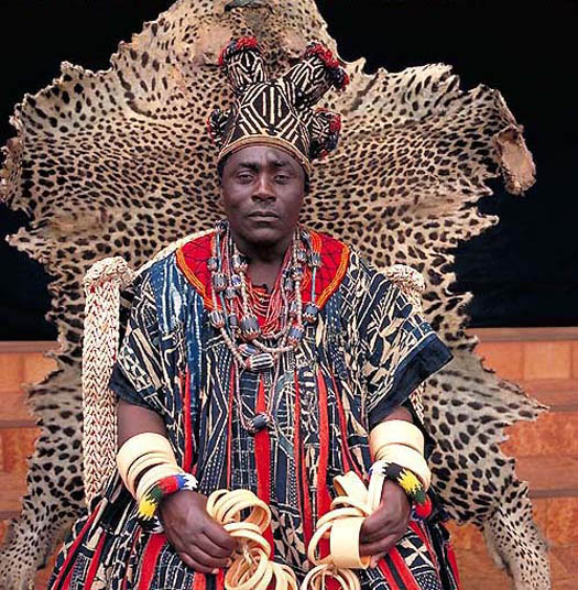 portrait of HAPI IV – King of Bana (Cameroon) by daniel lane