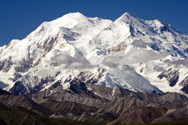 the highest point in north america is at the top of mt mckinley in alaska