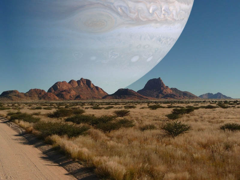 if jupiter was as close to earth as the moon Picture of the Day: If Jupiter Was the Same Distance as the Moon