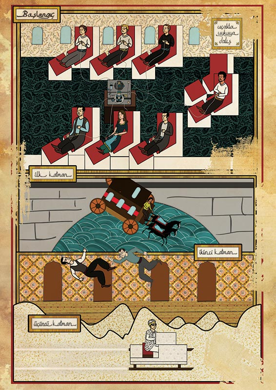 inception movie as ottoman motif 11 Classic Movie Scenes as Ottoman Motifs