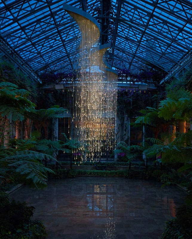 light shower installation by bruce munro longwood gardens Bruce Munros Light Installations at Longwood Gardens