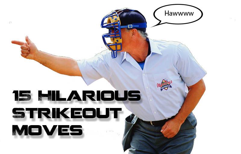 major league baseball umpire strikeout call move
