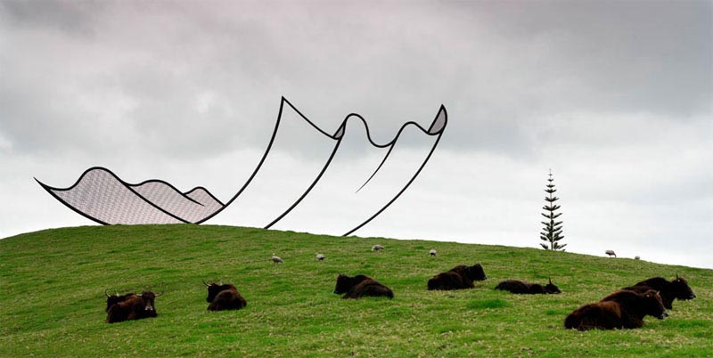 neil dawson horizons sculpture gibbs farm 2 Gravity Defying Sculptures by Cornelia Konrads