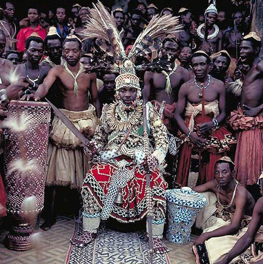 portrait of NYIMI KOK MABIINTSH III – King of Kuba (D.R. Congo) by daniel lane