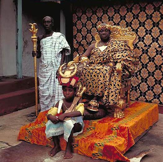 portrait of OSEADEEYO ADDO DANKWA III- King of Akropong-Akuapem (Ghana) by daniel lane