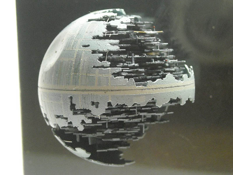 death star made from a ping pong ball