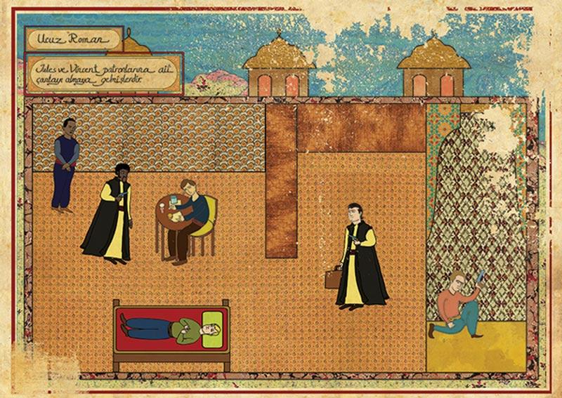 pulp fiction movie as ottoman motif 11 Classic Movie Scenes as Ottoman Motifs