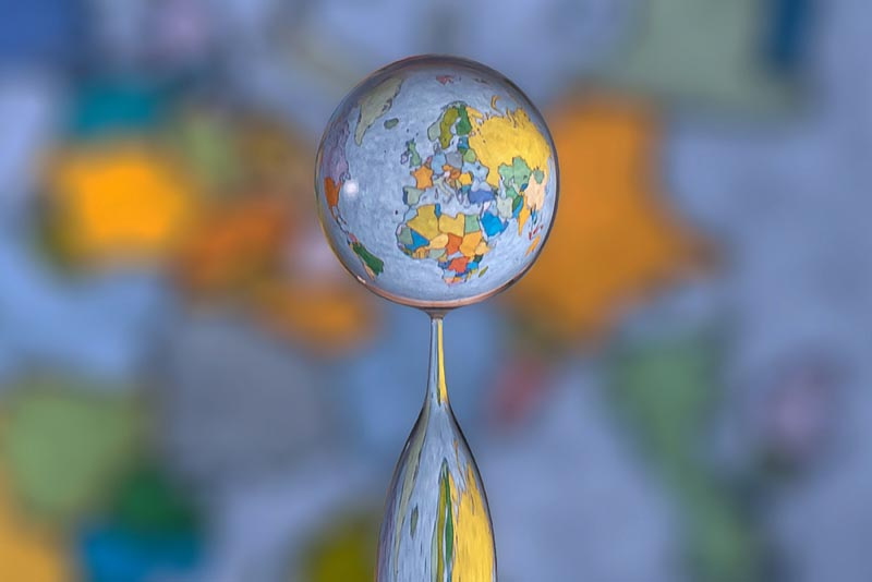 Water Drop Refractions by Markus Reugels