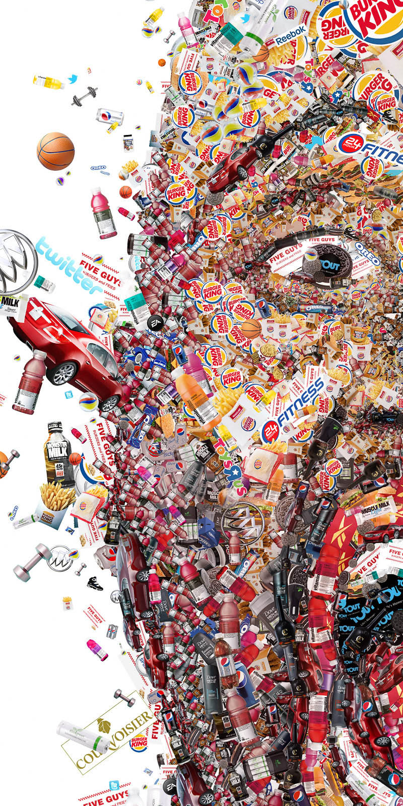 close up of photo mosaic for shaq for fast company by charis tsevis