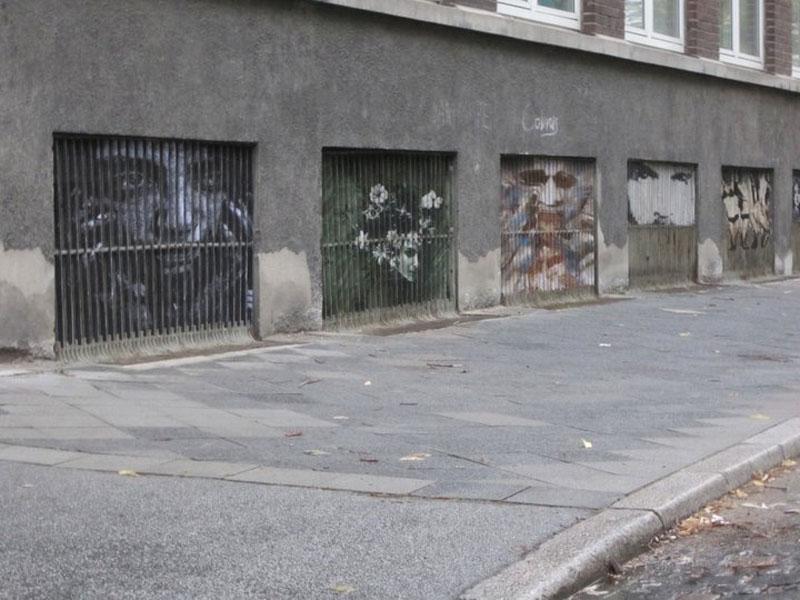 street art on railings by zebrating art 1 Amazing Street Art on Railings by Zebrating