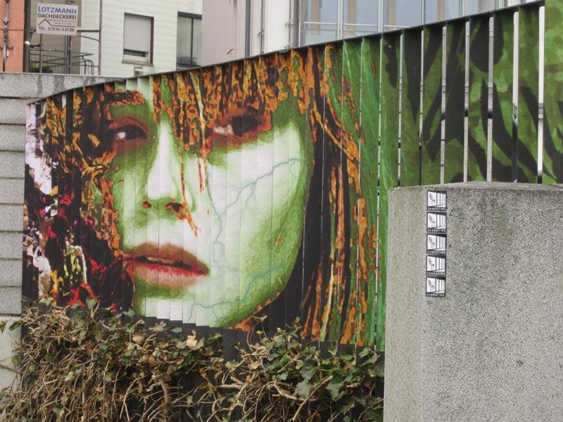 street art on railings by zebrating art 15 Amazing Street Art on Railings by Zebrating