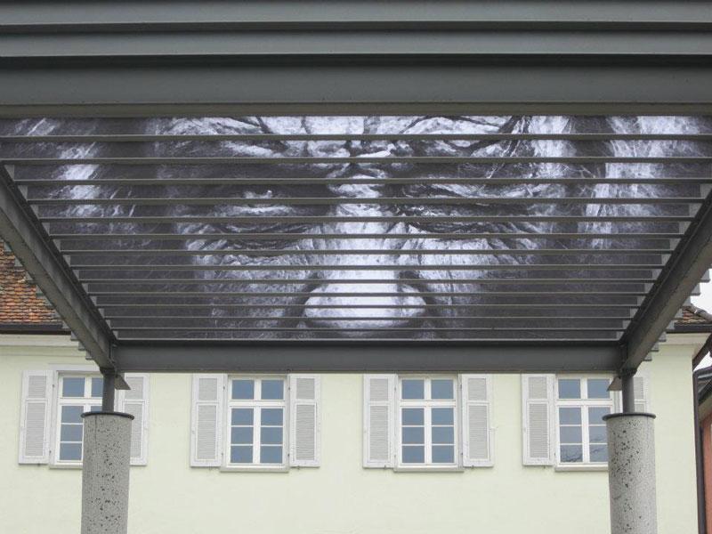 street art on railings by zebrating art 16 Amazing Street Art on Railings by Zebrating
