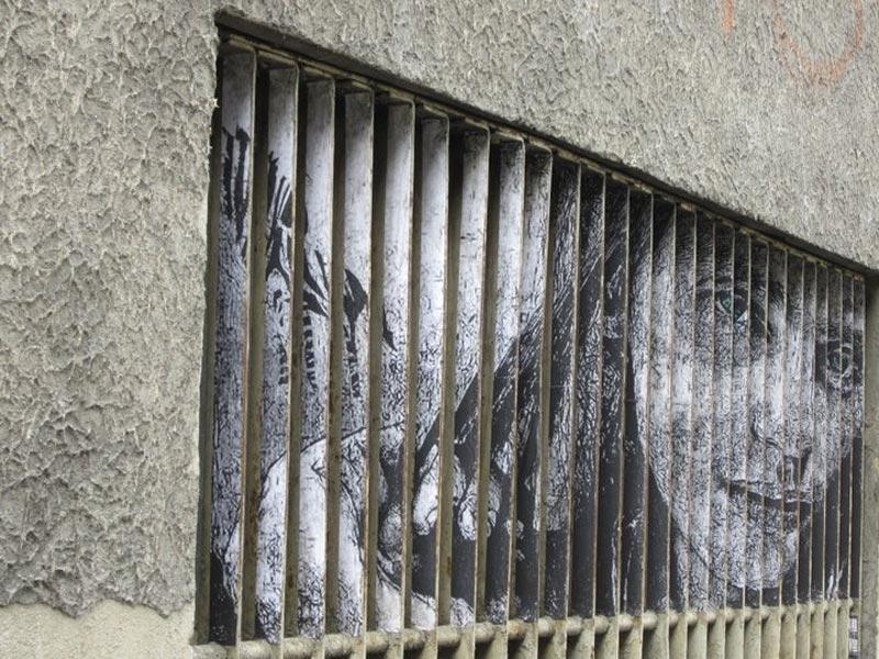 street art on railings by zebrating art 2 Amazing Street Art on Railings by Zebrating
