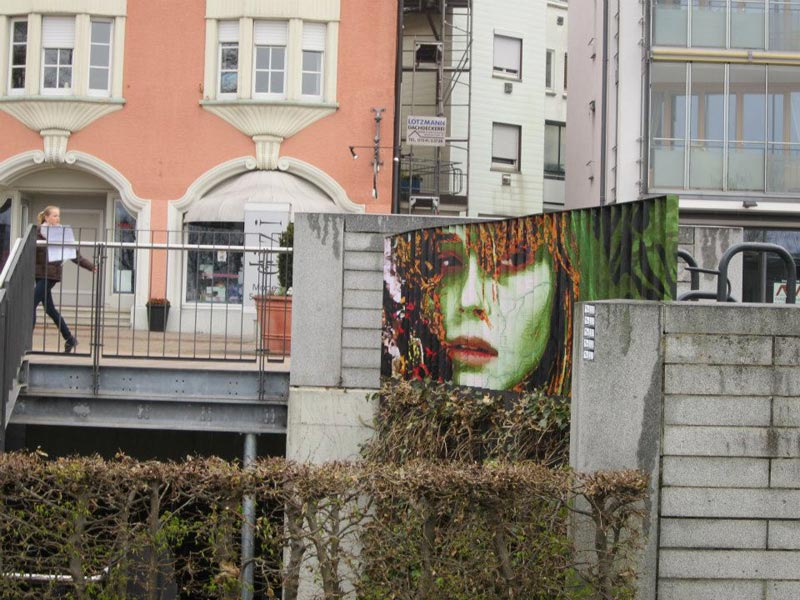 street art on railings by zebrating art 21 Amazing Street Art on Railings by Zebrating