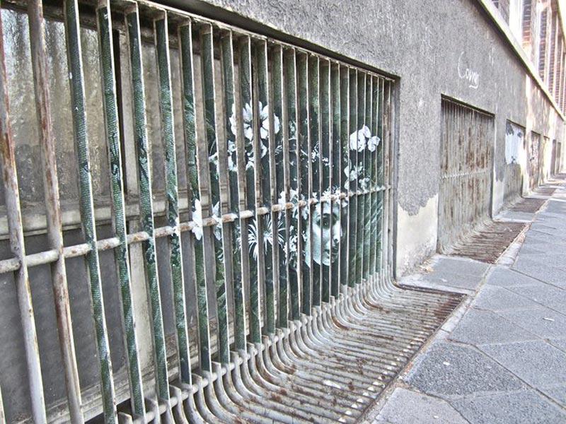 street art on railings by zebrating art 5 Amazing Street Art on Railings by Zebrating