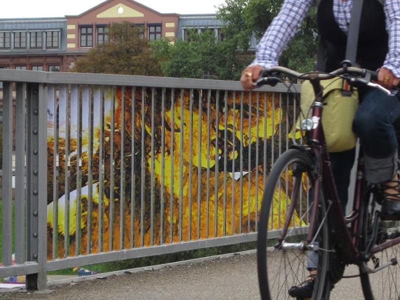street art on railings by zebrating art 6 Amazing Street Art on Railings by Zebrating