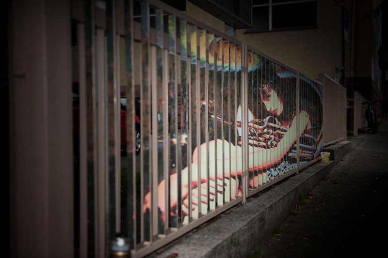 Amazing Street Art on Railings by Zebrating