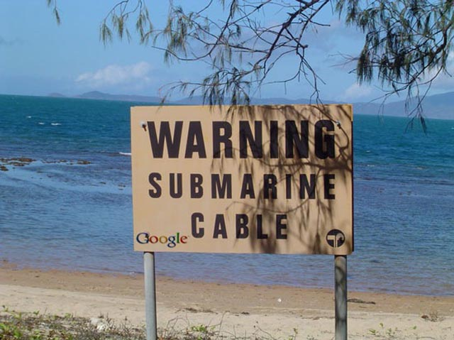 submarine cable warning sign The Undersea Cables that Connect the World