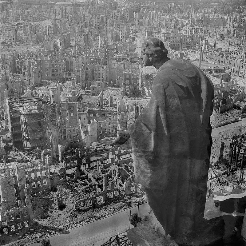 the bombing of dresden statue overlooking city The Top 100 Pictures of the Day for 2012