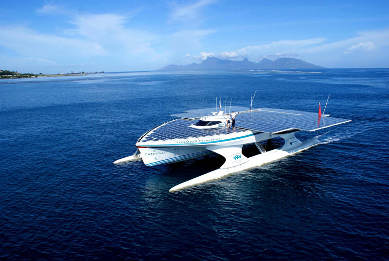 turanor planetsolar boat first solar powered boat to circumnavigate the world 14 The Solar Powered Boat that Circumnavigated the World