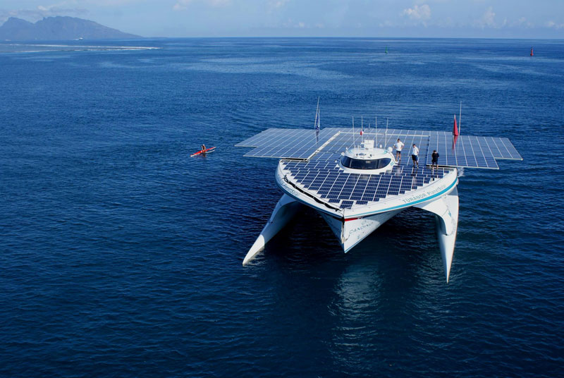 turanor planetsolar boat first solar powered boat to circumnavigate the world 19 The Solar Powered Boat that Circumnavigated the World
