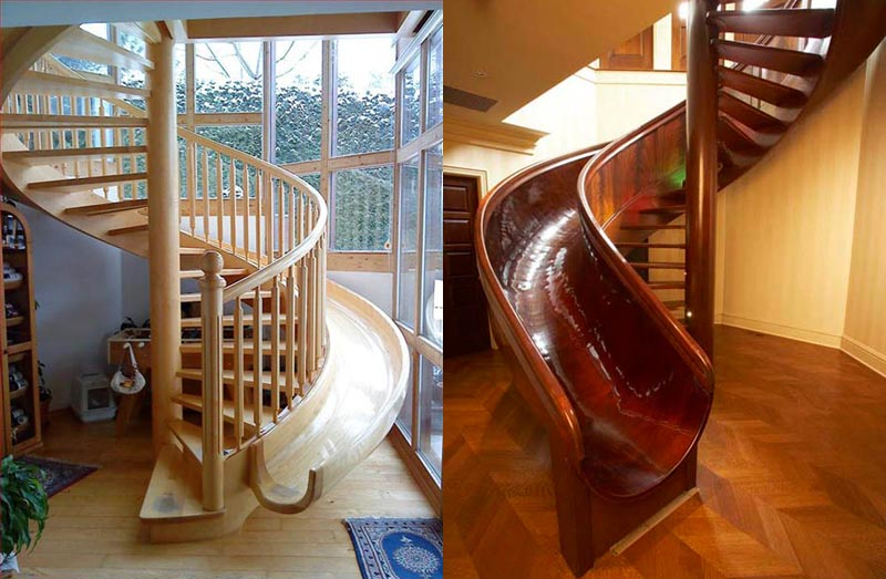 stairs with slides