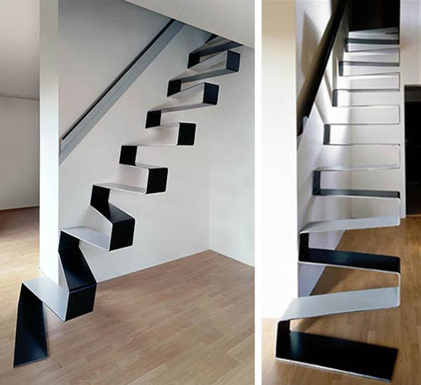 staircase from one continuous piece of material