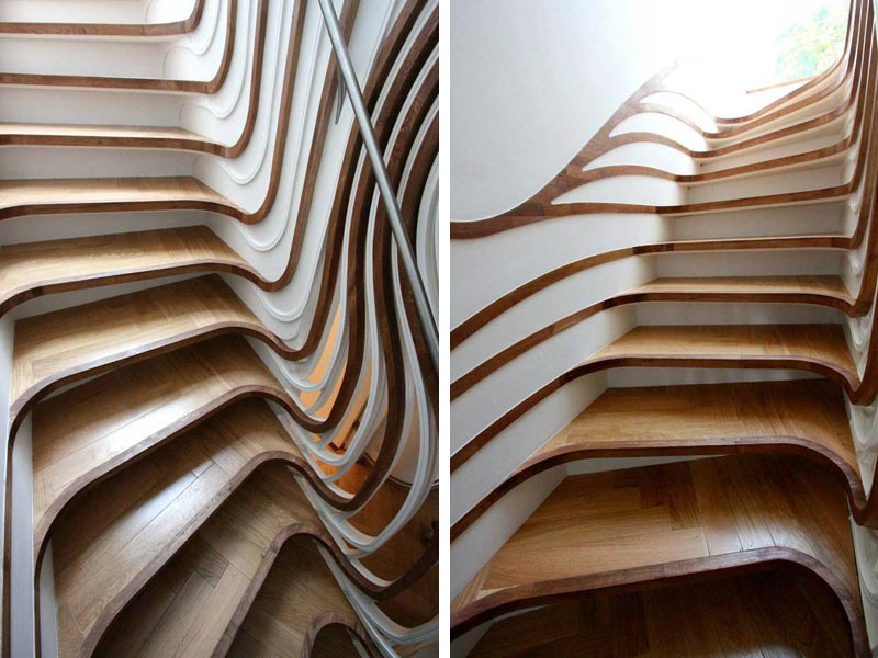 curvaceous staircase