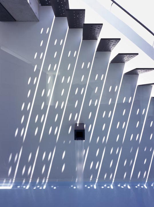staircase that creates shadow patterns