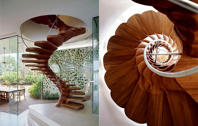 Freeflowing Spiral Staircase