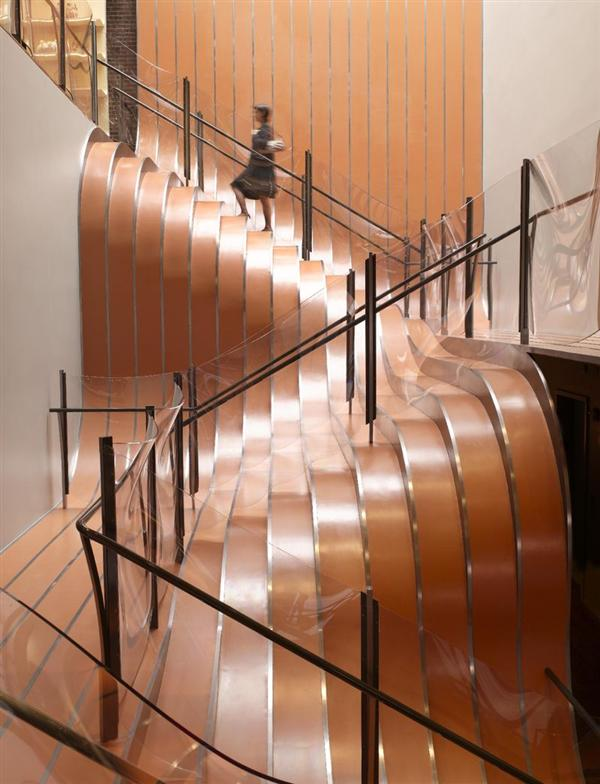 wavy staircase