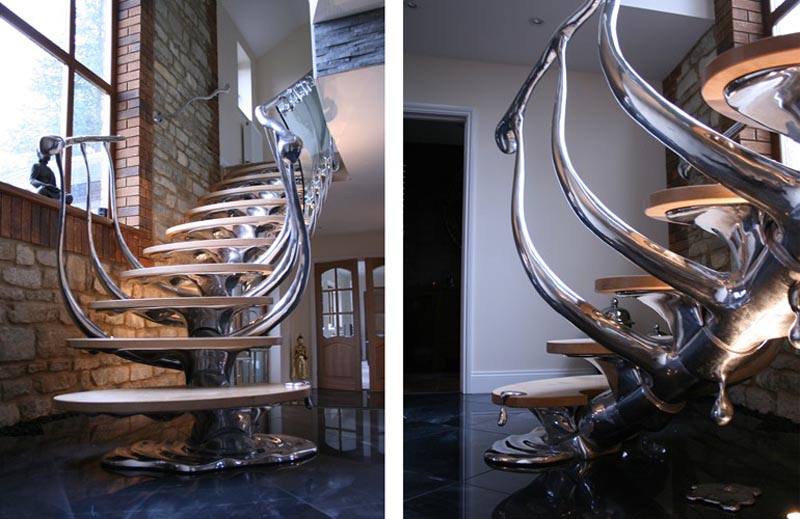 stairs that look like human spine vertebrae