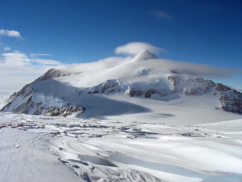 the view of the peak of vinson massif