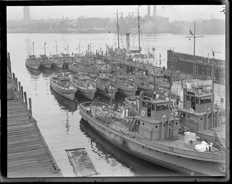 Fleet of Rum Chasers in East Boston - c. 1917-1934