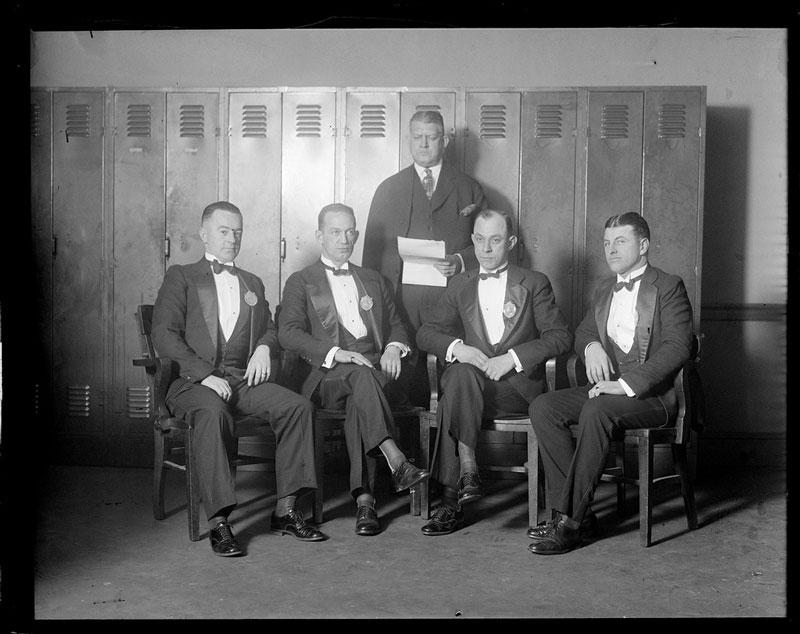 group photo of the boston police liquor squad led by oliver garrett