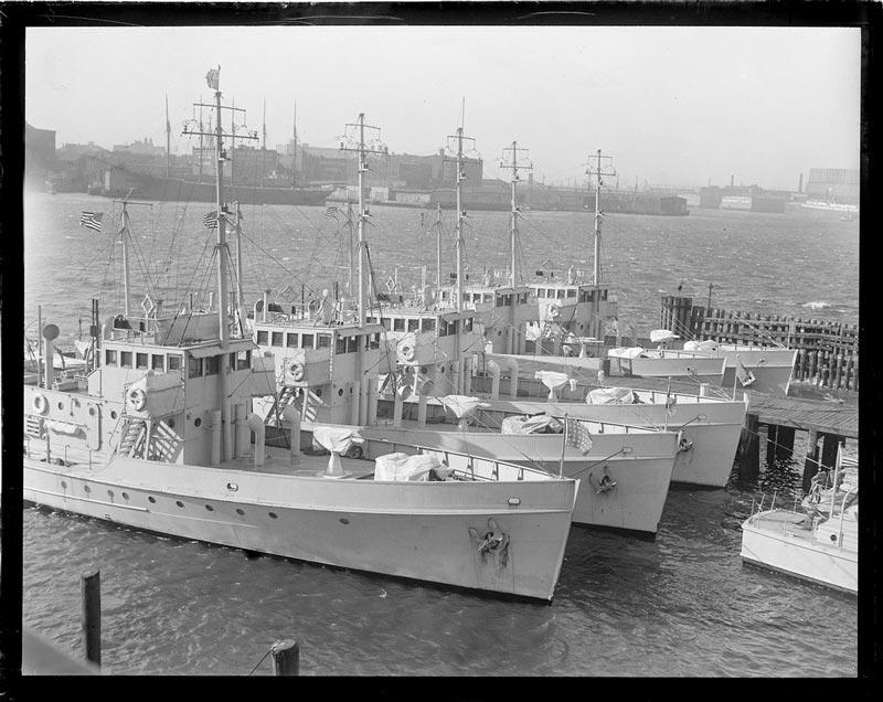 fleet of rum chasers in east boston