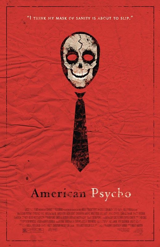american psycho alternate movie poster by adam rabalais Creative Alternate Movie Posters by Adam Rabalais