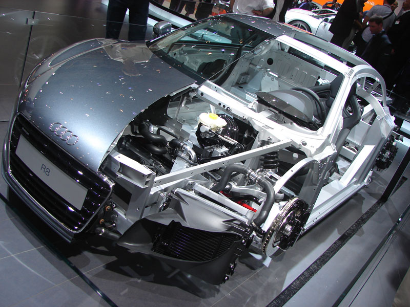 audi r8 cutaway cut in half 2 15 Amazing Car Cutaways