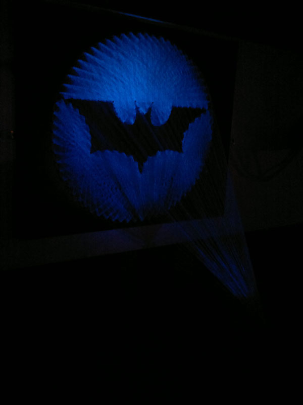 Awesome Batman Symbol Made From Thread Twistedsifter