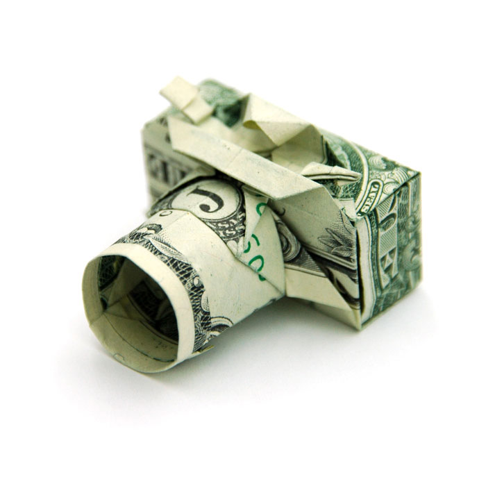 camera made from dollar bill origami by won park Amazing Origami Using Only Dollar Bills