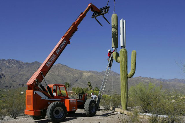 cell phone tower disguised as a cactus 1 25 Cell Phone Towers Disguised to Look Like Something Else