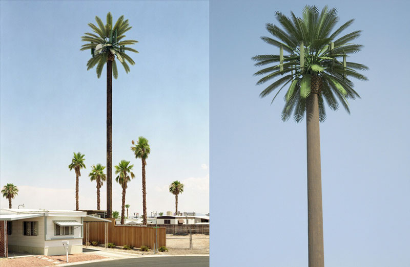 cell phone tower disguised as a palm tree 25 Cell Phone Towers Disguised to Look Like Something Else