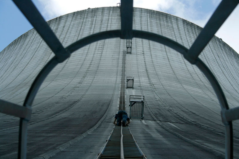 Picture of the Day: Climbing the CoolingTower