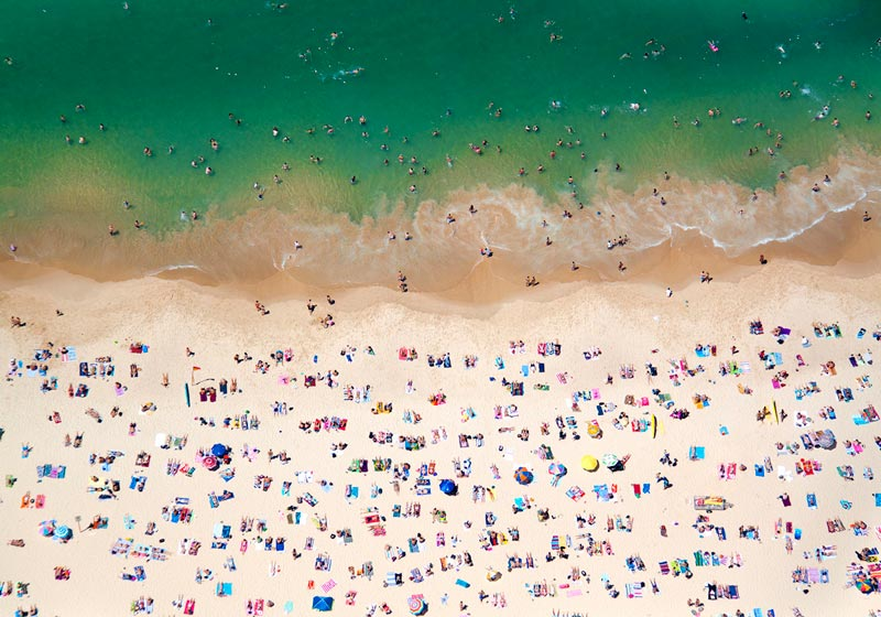 Beaches Around the World Seen from Above
